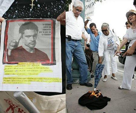 exiliados cubanos Juanes